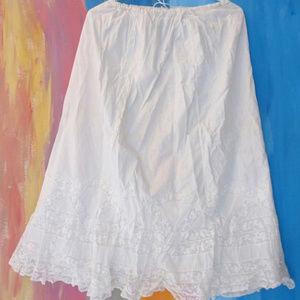 White cotton lace petticoat Victorian antique